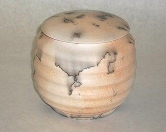 Moosehair Raku Lidded Container