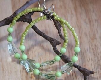 SO, SO  GREEN         Earrings Hoops Lemon Turquoise