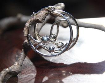 Hoops Sterling Silver Roller Coaster Earrings