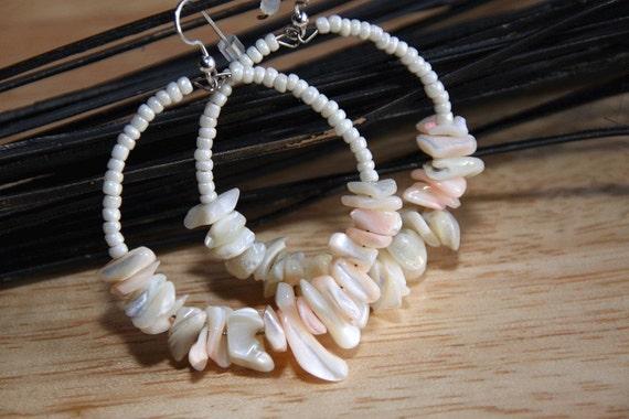 earrings  hoops BEACH FINDINGS - SHELL