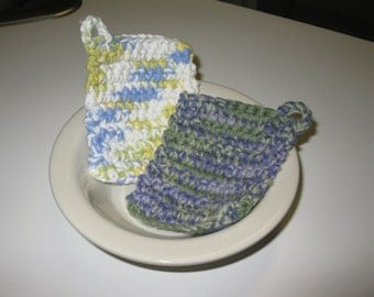 On Sale Washcloths - mixed Colors white yellow green blue