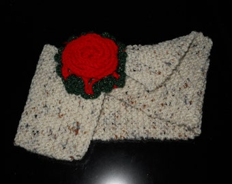 Crocheted Neck  Warmer Scarf