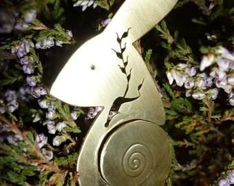 Silver Harvest Hare Pendant Jewellery,  SquareHare, UK,  Free Shipping, Vegan wildlife bunny jewellery celtic birthday anniversary wedding