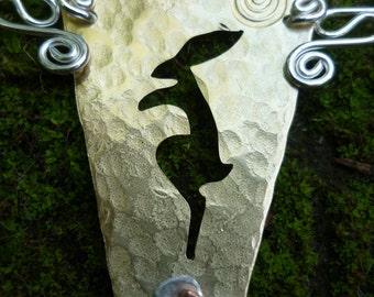 Hare pendant Jewellery , Free Shipping,  silver, SquareHare, UK, Vegan