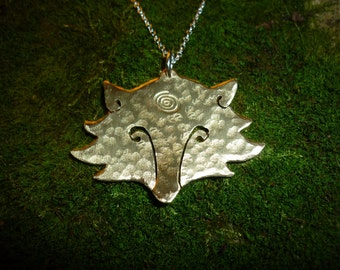 Fox head pendant, SquareHare, jewellery, Free Shippeing, UK, Vegan