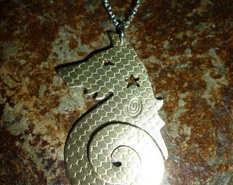 Spiral Fox pendant, Squarehare, Free Postage, Vegan, uk, Druid, Pagan, Countryside