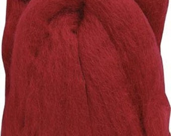 Clover Felting Natural Wool Roving Red Part No. 7927
