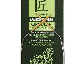 Clover 9 Inch Size 8 Takumi Circular Bamboo Knitting Needles Part No. 3016-9-8