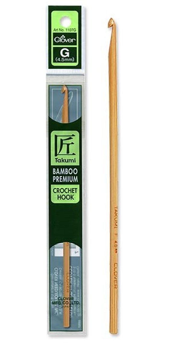 Clover Size J Bamboo Crochet Hook Part No. 1110/J