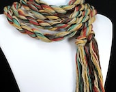 Skinny Scarf - Super Long, Vegan, Eco Friendly - Earth