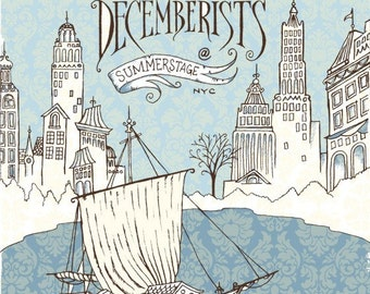 Decemberists at Summerstage 2007 - silkscreen