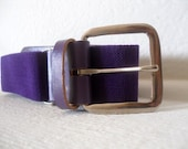 Vintage Amethyst and Silver Stretch Belt