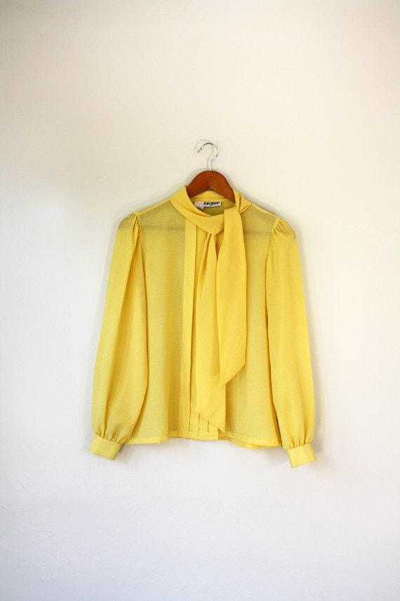 Yellow Sheer Blouse 48