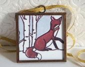 Red Fox & Birch - Ornament