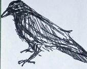 crow art card