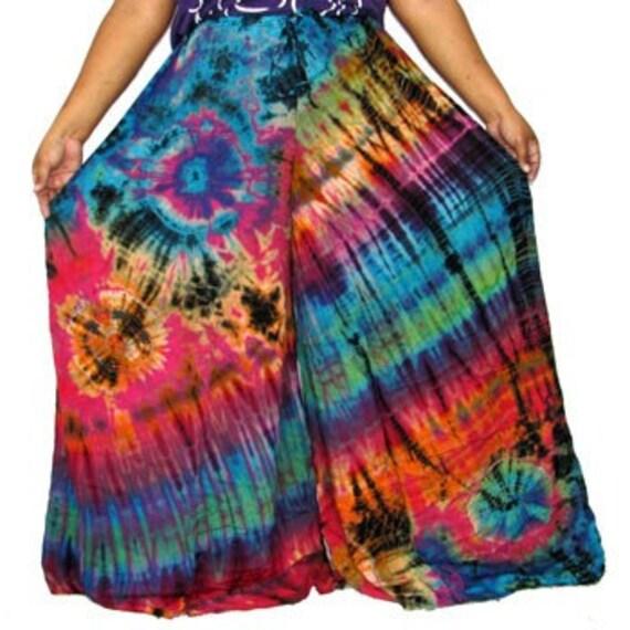 NP1657 Tie Dye Wide Leg Pants Plus Size M/L/XL/2X/3X/4X
