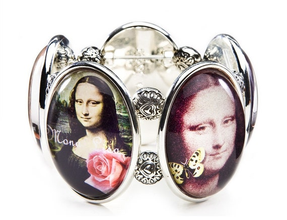 Mona Lisa Five-Cameo Stretch Bracelet