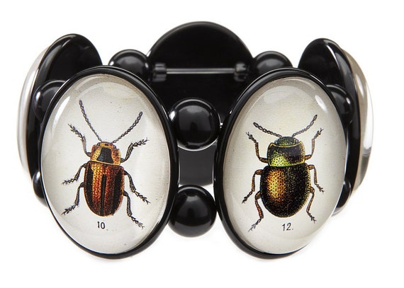 SALE Beetle Five Cameo Stretch Bracelet
