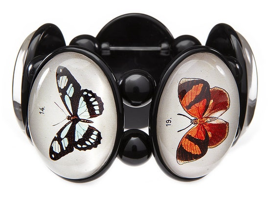 Butterflies Five-Cameo Stretch Bracelet