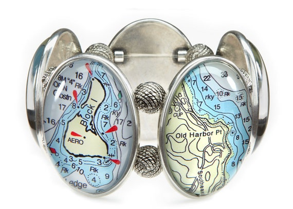 Block Island Five-Cameo Stretch Bracelet
