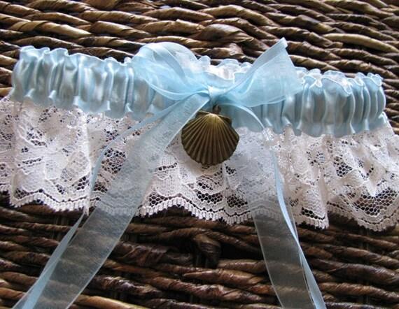 Something Blue Seaside Wedding Garter