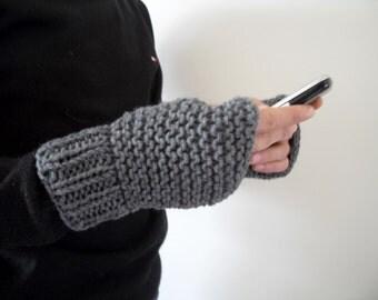 Mens Fingerless Gloves, Gift For Dad, Men Gloves,Dark Grey Gloves, Dark Clouds, Adventurer Steampunk, Boho Man, Gift For Him, Gift Under 25