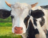 Cow Painting Giclee CANVAS Print,Handel, Original Reproduction by Cheri Wollenberg