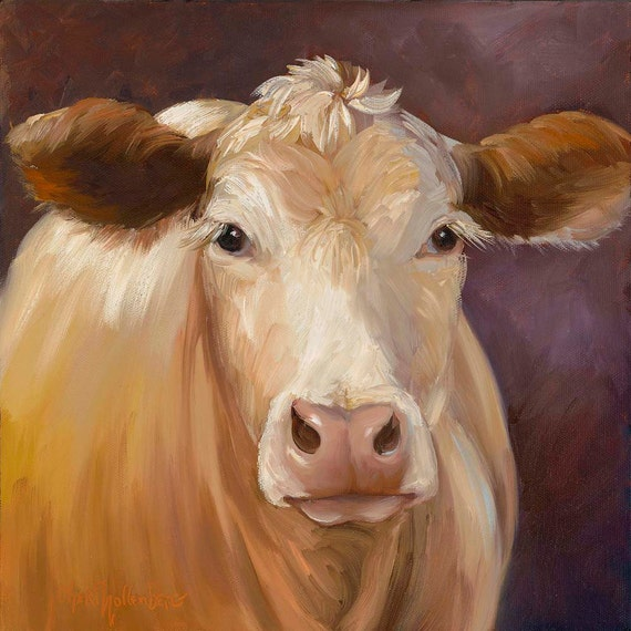 301 moved permanently for Cow painting print