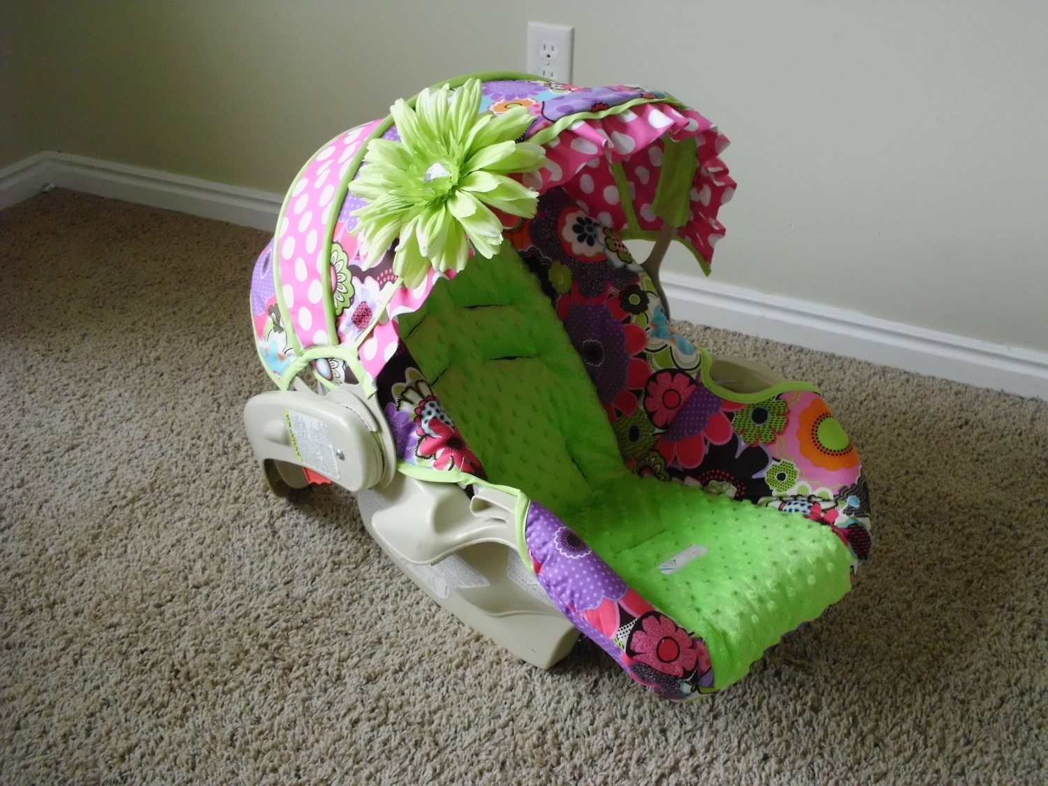 how to put a cosco infant car seat back together