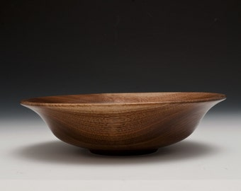 Walnut wide rimmed bowl