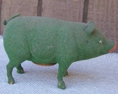 Antique German Stick Leg Pig Candy Container,Reserved for SquirrelRanch