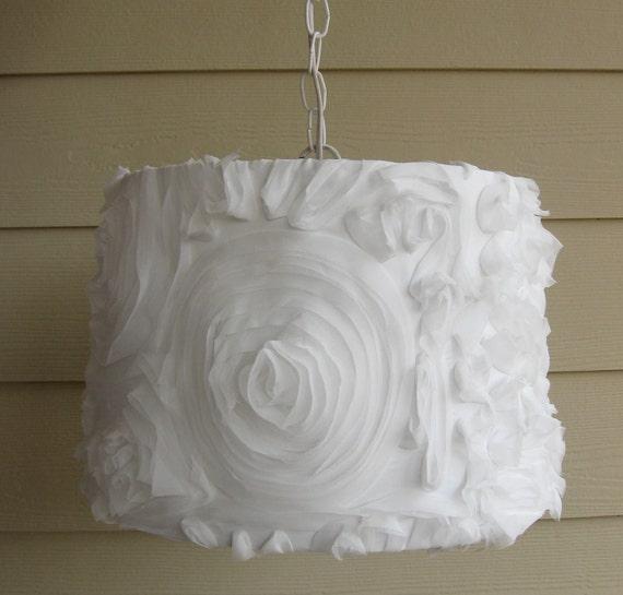 White Pendant Chandelier Shabby Chic