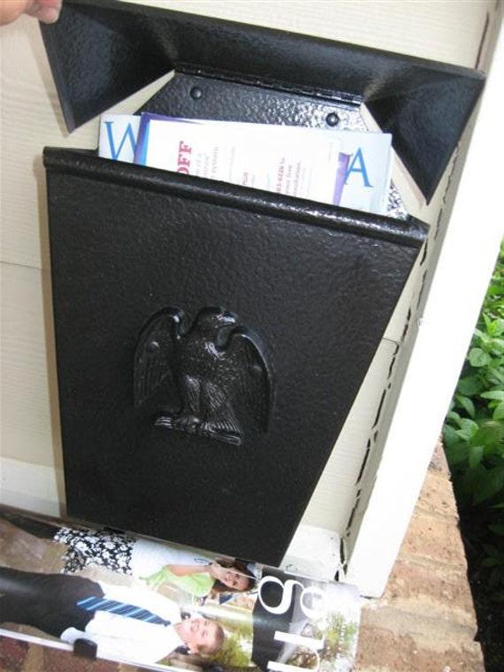 metal mailbox magazine rack