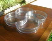 Vintage Mid Century Clear Divided Dansk Tray