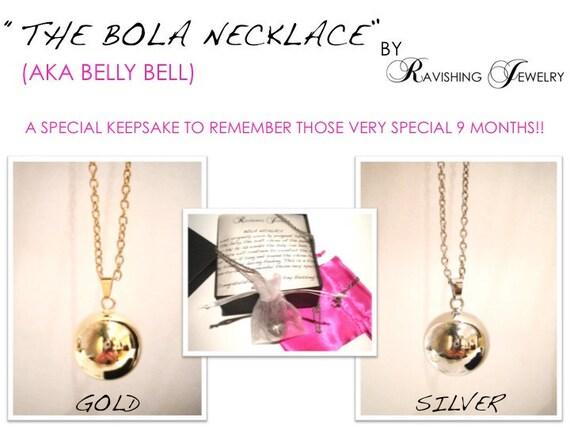 Original GOLD Baby Bump Bola Necklace (aka Belly Bell)