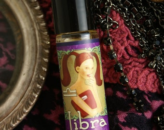 LIBRA Organic Perfume All Natural Botanical Fragrance Melissa Geranium Womens Perfume Vegan Perfume Oil Roll-on Fragrance FREE SHPPING Usa