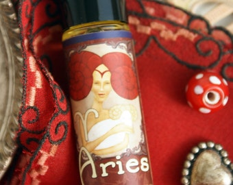 ARIES Organic Perfume Roll on HoneySuckle Tobacco Cinnamon Peppermint Womens Perfume Vegan Perfume Oil Natural Fragrance Free shipping USA