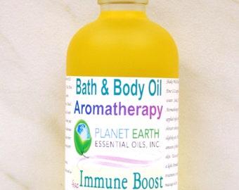 IMMUNE BOOST Aromatherapy Bath & Body Oil Holistic Healing Massage Oil Organic Body Oil Natural Body Oil    2oz Bottle   Organic