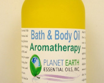 WOMEN BALANCE Aromatherapy Bath & Body Oil Holistic Healing Massage Oil Jasmine Fennel Bergamot Geranium Clary Sage    2oz Bottle   Organic
