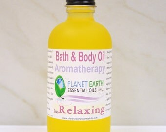 RELAXING Aromatherapy Bath & Body Oil Holistic Healing 2oz Bottle Organic Body Oil Massage Oil All Natural Body Oil Herbal Remedy