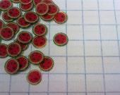 100 floppy slices for nail art. Watermelon.