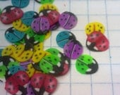 100 floppy slices for nail art. Colorful ladybugs.