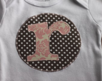 Personalized Initial Baby bodysuit and Kids Shirts