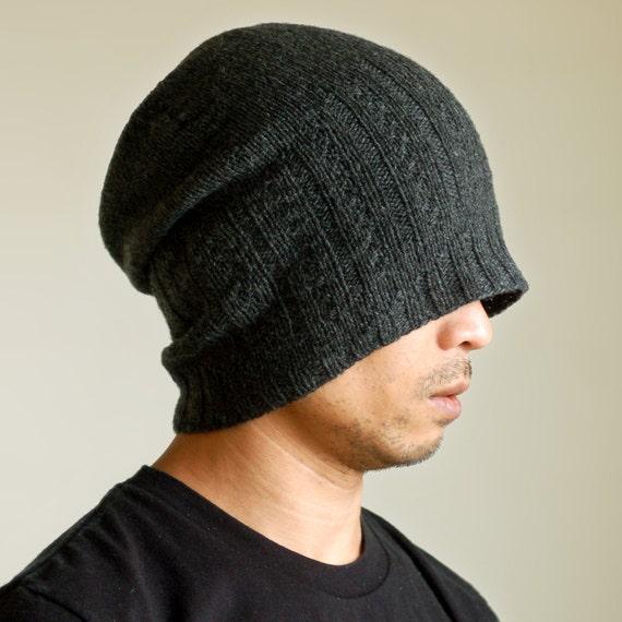 Mens Hats Knitting Patterns : Mens Hat Knit by Hand Shear Bravo