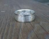 Custom Listing For Eric Sumler - 14k Palladium white Mokume Gane & Silver Ring Wedding Ring ( MK-Plain Pd/.925 )