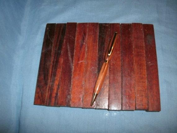 10 Tigerwood Pen Blanks, Item  917