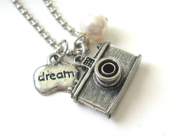 July 4th SALE - Photographer Dream Camera Necklace - DistinctlyIvy on Etsy