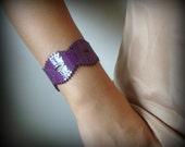 Purple Patent Leather Braid Cuff