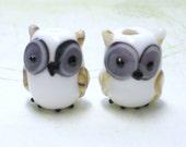 Owl Lampwork Bead - 1