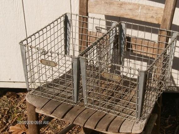 Two Metal Locker Baskets